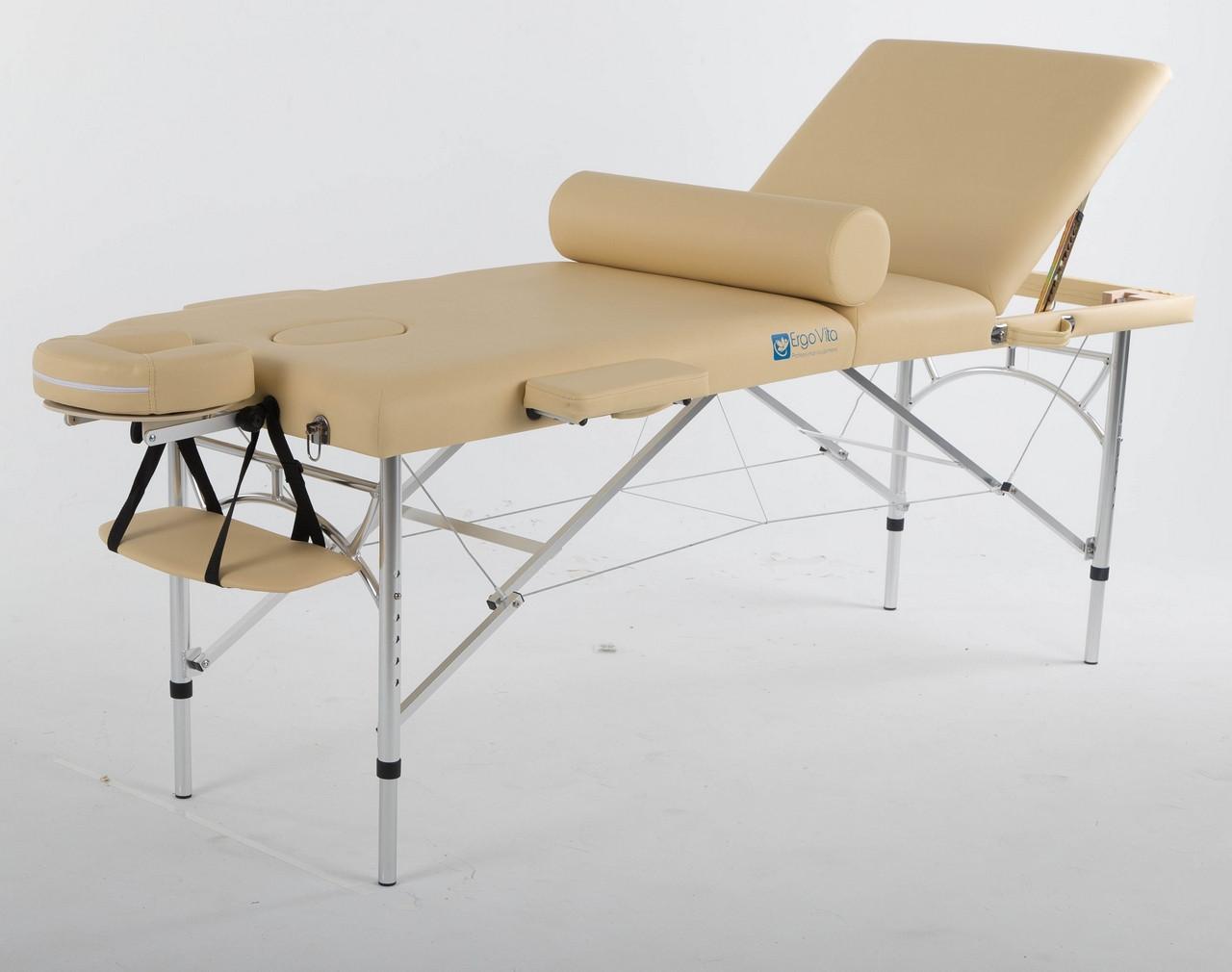 Складной массажный стол ErgoVita Master Alu Plus (бежевый)