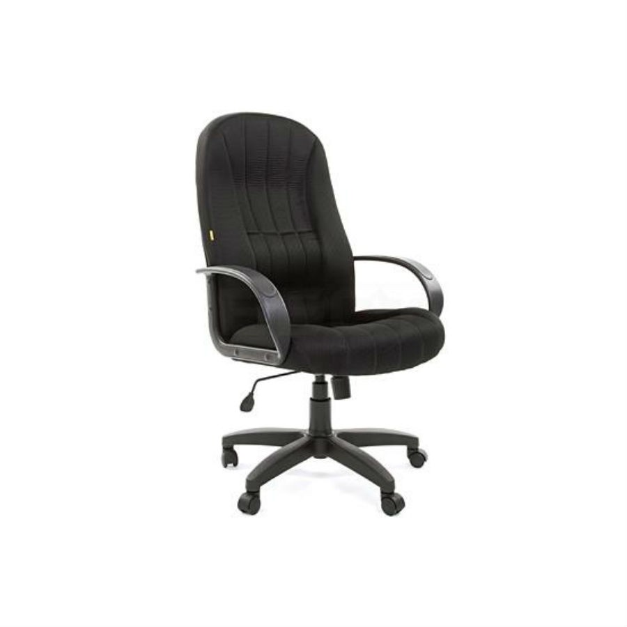 Кресло для руководителя CHAIRMAN 685 10-356 чёрныйКресло CHAIRMAN 685 &amp;ndash; это модель, которая отлично подходит для длительной работы, сидя за ней, а также обеспечения высокого уровня комфортности. Дополнительно, изделие обладает представительским внешним видом. Кресло отличается широким сидением и высокой спинкой. Эти два элемента расположены друг относительно друга под углом, несколько превышающим стандартные для подобной ситуации 90 градусов. Таким образом, можно добиться снижения нагрузки на позвоночник.<br>