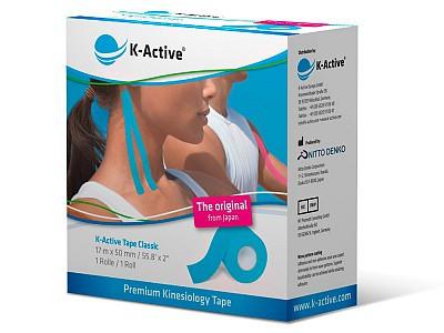 Кинезио Тейп K-Active Classic 5см х 17м бежевыйK-Active Tape &amp;ndash; кинезиотейпы представляют собой эластичные ленты, изготовленные из высококачественного хлопка и покрытые гипоаллергенным клеящим слоем на акриловой основе, который активизируется при температуре тела.&#13;<br>&#13;<br>Эластические свойства тейпов приближены к эластическим параметрам кожи.&#13;<br>&#13;<br>Хлопковая основа не препятствует дыханию кожи и испарению с ее поверхности.&#13;<br>&#13;<br>Эти свойства позволяют использовать тейпы в водных видах спорта, а также оставлять наклеенными на кожу до 5 суток.<br>