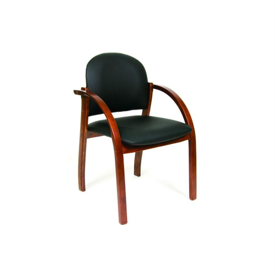 Офисное кресло Chairman 659  чёрный глянцевый/темный орехУниверсальное кресло, которое было специально разработано для посетителей или оформления переговорных комнат. Строгая форма и натуральные материалы делают кресло по настоящему современным атрибутом офисного помещения. Деревянные ножки и подлокотники отлично дополняют обивку из кожи. Благородные оттенки органично&amp;nbsp;впишутся в любой интерьер.<br>