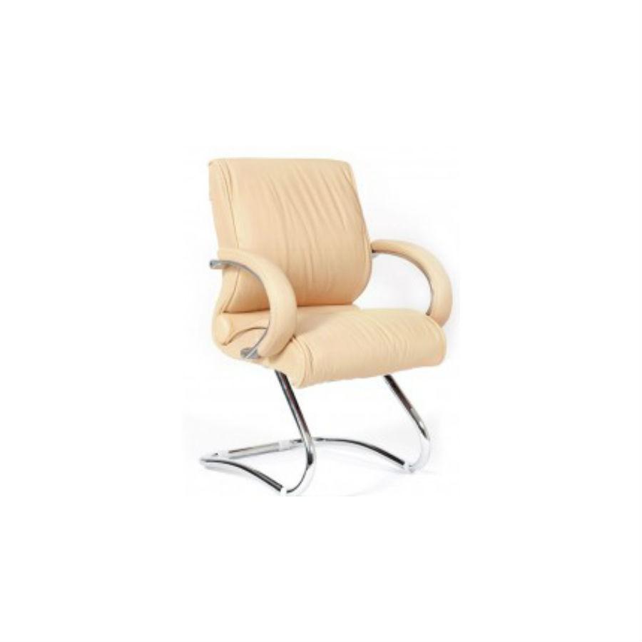 Офисное кресло Chairman 445 кожа бежеваяОфисное кресло Chairman 445 предназначено для посетителей, а также для оформления переговорных и зон ожидания. Несмотря на кажущуюся простоту, кресло достаточно комфортно и позволяет удобно располагаться в течение продолжительного времени. Хромированное основание придаёт креслу привлекательный внешний вид. Для удобства расположения, хромированные подлокотники дополнены мягкими накладками.<br>