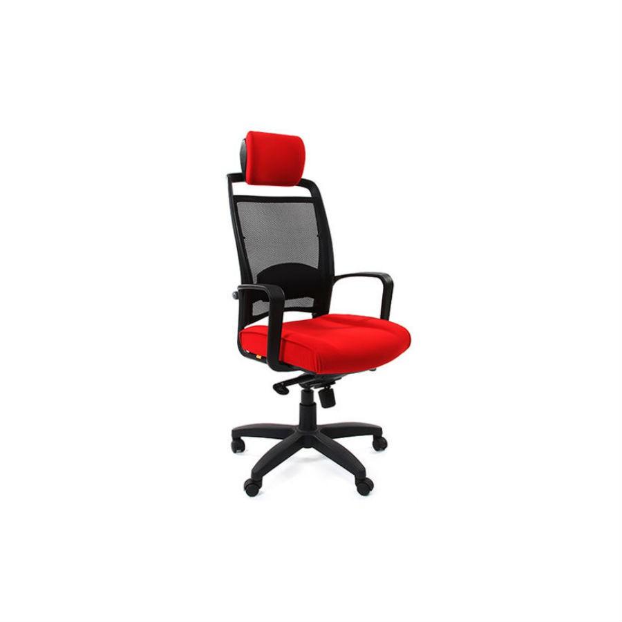 Кресла для руководителя CHAIRMAN 283 красныйКресло для руководителей высшего звена CHAIRMAN СН 283 успешно дополняет линейку кресел, выполненных в стиле Hi-Tech со спинкой из сетчатого акрила. Эта модель подходит руководителям, которые много работают за компьютером и предпочитают кресла с тканевой обивкой. Обивка кресла - ткань стандарт - это легкое быстросохнущее и износостойкое синтетическое волокно, которое прекрасно сохраняет форму, устойчиво к светловому и тепловому воздействию.<br>