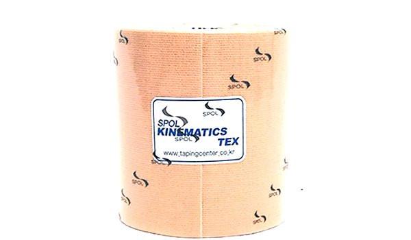 Кинезио тейп SPOL TAPE Kinematics Tex бежевый 7,5см х 5мКинезио тейп &amp;mdash; это эластичная лента из хлопка, на которую нанесён гипоаллергенный клей на акриловой основе. Применяется в спорте, реабилитации, массаже, фитнесе и т.д.&#13;<br>&#13;<br>Линейка стандартных кинезио тейпов SPOL TAPE обладает высокими эластическими характеристиками, имеет основу средней плотности с нанесённым на неё средним количеством клея.&#13;<br>&#13;<br>Стандартные кинезио тейпы подходят для использования в большинстве случаев.<br>