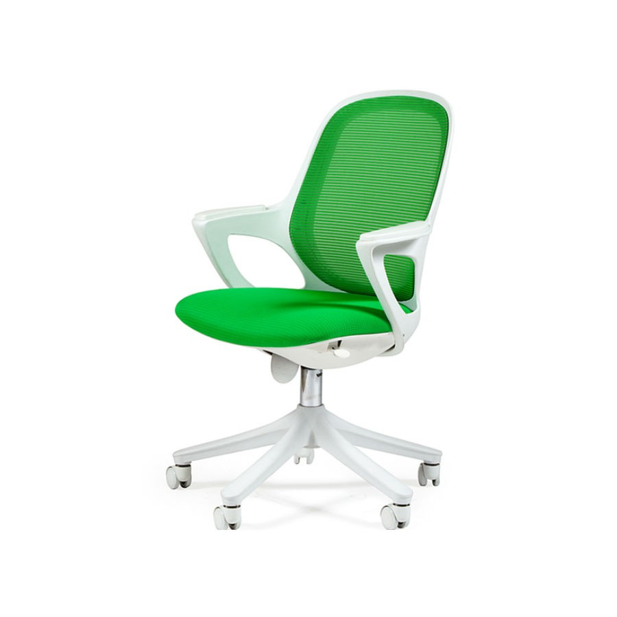 Офисное кресло Chairman 820 белый пластик SW 05 зелёный