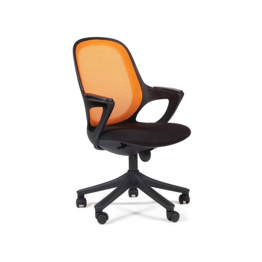 Офисное кресло Chairman 820 чёрный пластик DW 04-1 оранжевый