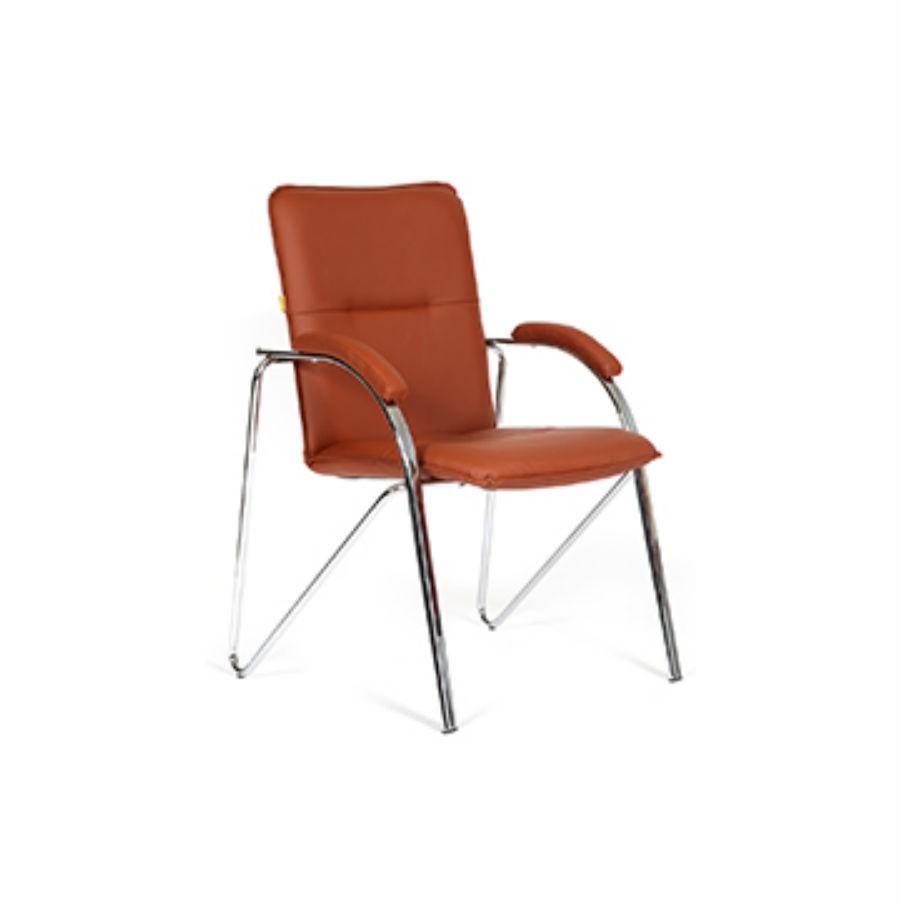 Офисное кресло Chairman 850 экокожа Terra 111 коричневыйПростое и стильное решение для офиса любого уровня. Лаконичный дизайн и наличие хромированных элементов делают кресло самостоятельным элементом интерьера. Устойчивая конструкция и наличие мягких накладок на подлокотниках обеспечат максимальный комфорт. Прекрасно подойдёт для оформления переговорных и для посетителей. Благородный цвет внесёт яркий акцент в любое помещение. Для обивки кресла используется экокожа.<br>