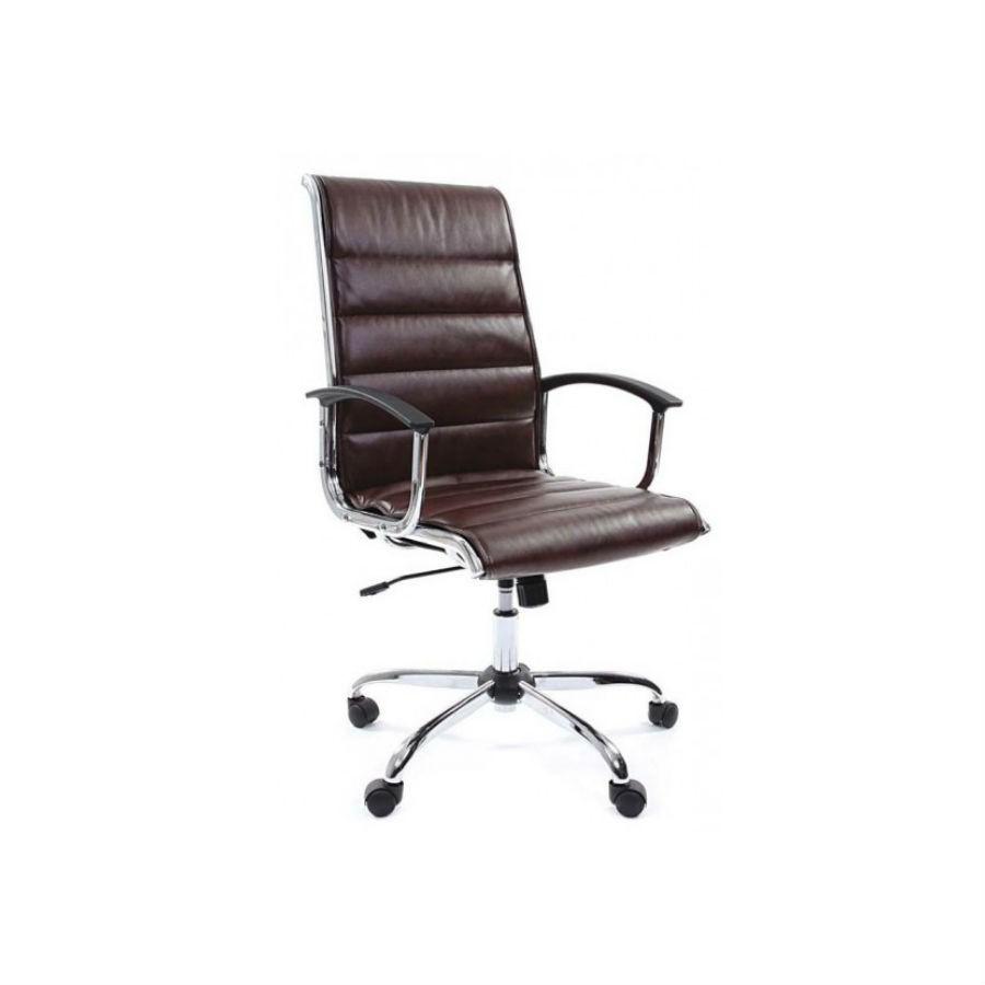 Офисное кресло Chairman 760 экокожа коричневыйСтильное решение для оформления кабинета руководителя. Нейтральный цвет и шикарная форма подчеркнут статус компании. Сочетание экокожи и хромированных элементов делает кресло по настоящему уникальным. Оно обеспечит комфорт на весь день, в нём будет удобно человеку любой комплекции.&amp;nbsp;При необходимости кресло можно отрегулировать по высоте, а встроенная функция качания обеспечит комфортную поддержку спины.<br>