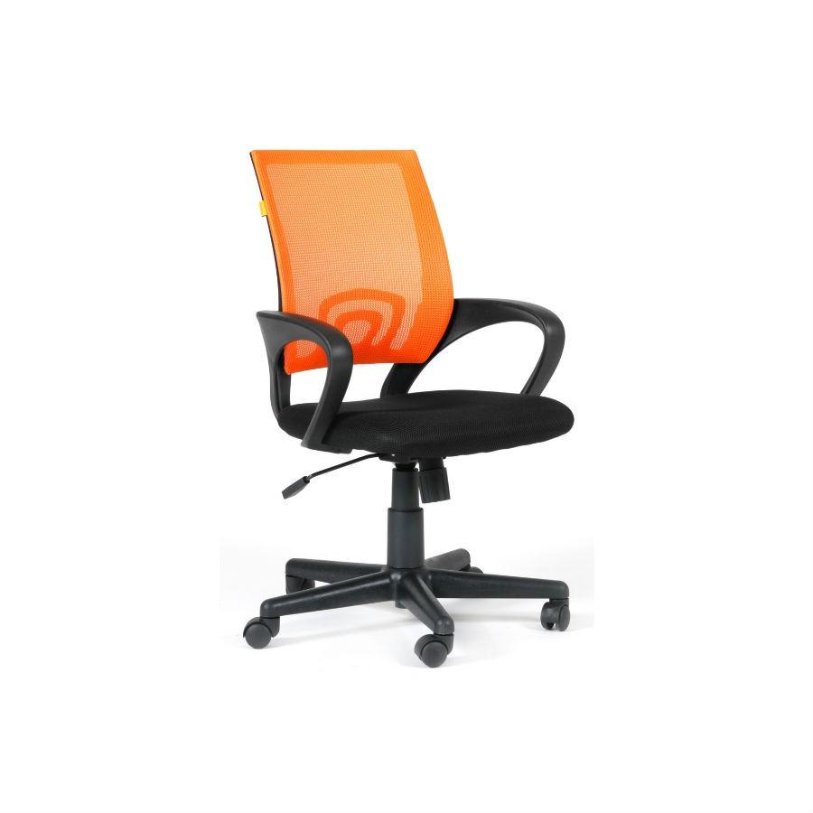 Офисное кресло Chairman 696 DW66 оранжевыйОфисные кресла серии Chairman 696 оценят в первую очередь представительницы прекрасного пола за яркий стильный дизайн и многообразие расцветок. При кажущейся лёгкости, конструкция кресла достаточно надёжна, способна выдерживать нагрузку до 100 кг. А дополнения в виде ручной настойки параметров кресла сделают его незаменимым для работы в офисе. Спинка, обтянутая&amp;nbsp;сетчатым&amp;nbsp;акрилом&amp;nbsp;обеспечит наиболее&amp;nbsp;комфортное положение в течение всего рабочего дня.<br>
