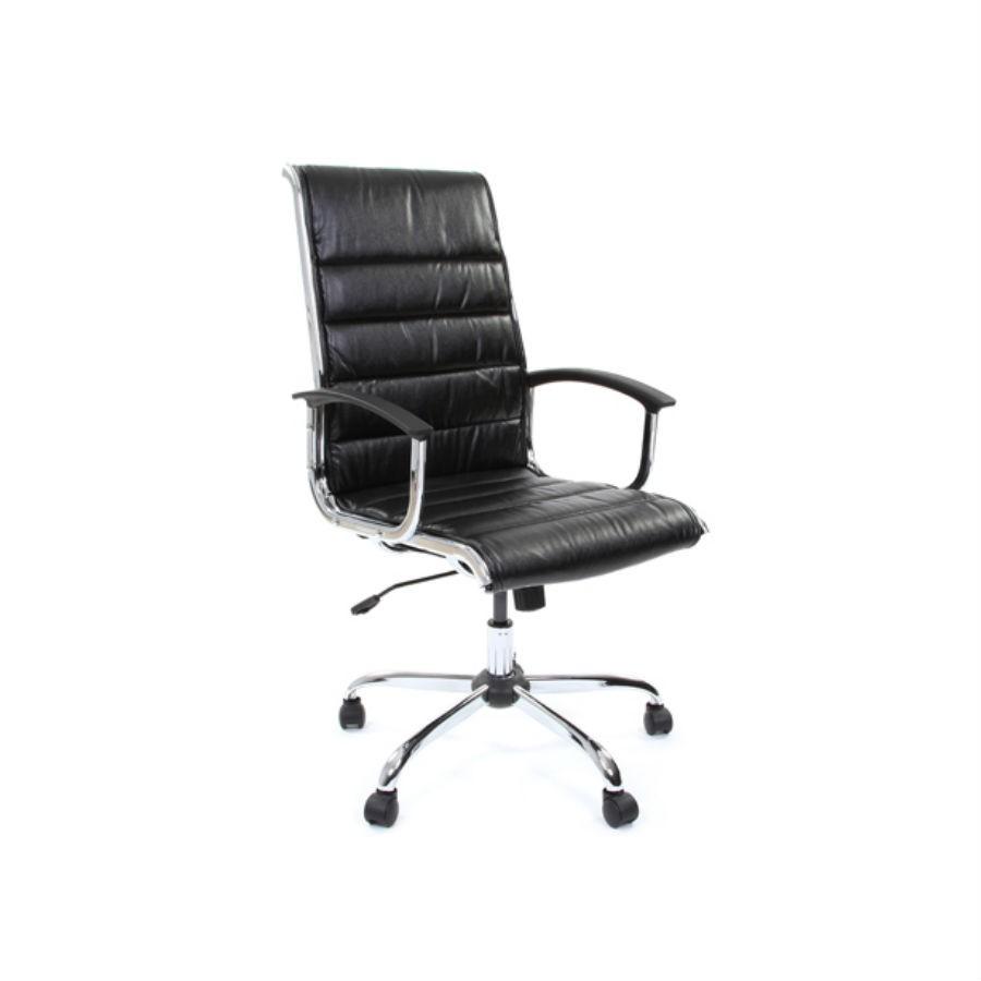 Офисное кресло Chairman 760 экокожа чёрныйСтильное решение для оформления кабинета руководителя. Нейтральный цвет и шикарная форма подчеркнут статус компании. Сочетание экокожи и хромированных элементов делает кресло по настоящему уникальным. Оно обеспечит комфорт на весь день, в нём будет удобно человеку любой комплекции.&amp;nbsp;При необходимости кресло можно отрегулировать по высоте, а встроенная функция качания обеспечит комфортную поддержку спины.<br>