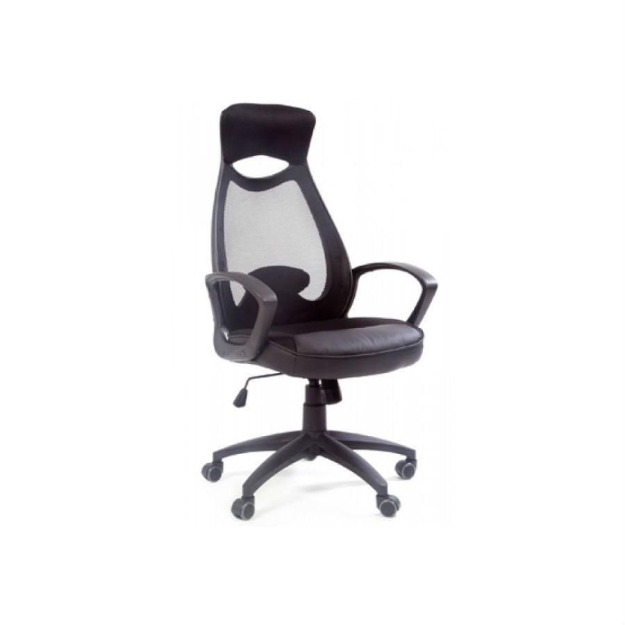 Кресло для руководителя CHAIRMAN 840 чёрныйЭто универсальное кресло, которое прекрасно подойдет как стильному и энергичному руководителю, так и оперативным сотрудникам в современном офисе. Помимо эффектного, запоминающегося дизайна, модель отличается повышенной эргономикой: специально разработанная форма мягких элементов, сетчатая спинка, дуговой наклонный подголовник - все это вместе по праву делает CHAIRMAN 840 одним из самых удобных кресел.<br>