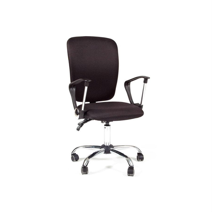 Офисное кресло Chairman 9801 15-21 чёрный хром NКресла коллекции Chairman 9801 станут отличным дополнением любого офисного помещения. Строгий дизайн и благородные расцветки прекрасно подойдут под любой стиль интерьера. Кресла обиты тканью, которая устойчива к истиранию и не требует дополнительного ухода. Эргономика кресла обеспечит оптимальную посадку и комфорт. При необходимости кресло можно настроить&amp;nbsp;под индивидуальные параметры. Крестовина с колёсиками для обеспечения максимального комфорта.<br>