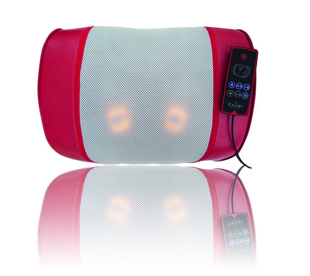 Массажная подушка Casada Maxiwell 3Массажная подушка &amp;mdash; это, пожалуй, самый удобный и универсальный массажёр из всех. Только с её помощью можно проводить массаж всего тела: шеи, плеч, спины, поясницы, ягодиц, икр и стоп. При этом подушку не нужно держать в руках, вы полностью управляете её работой при помощи пульта, что позволяет вам полностью расслабиться и полноценно насладиться массажем.<br>