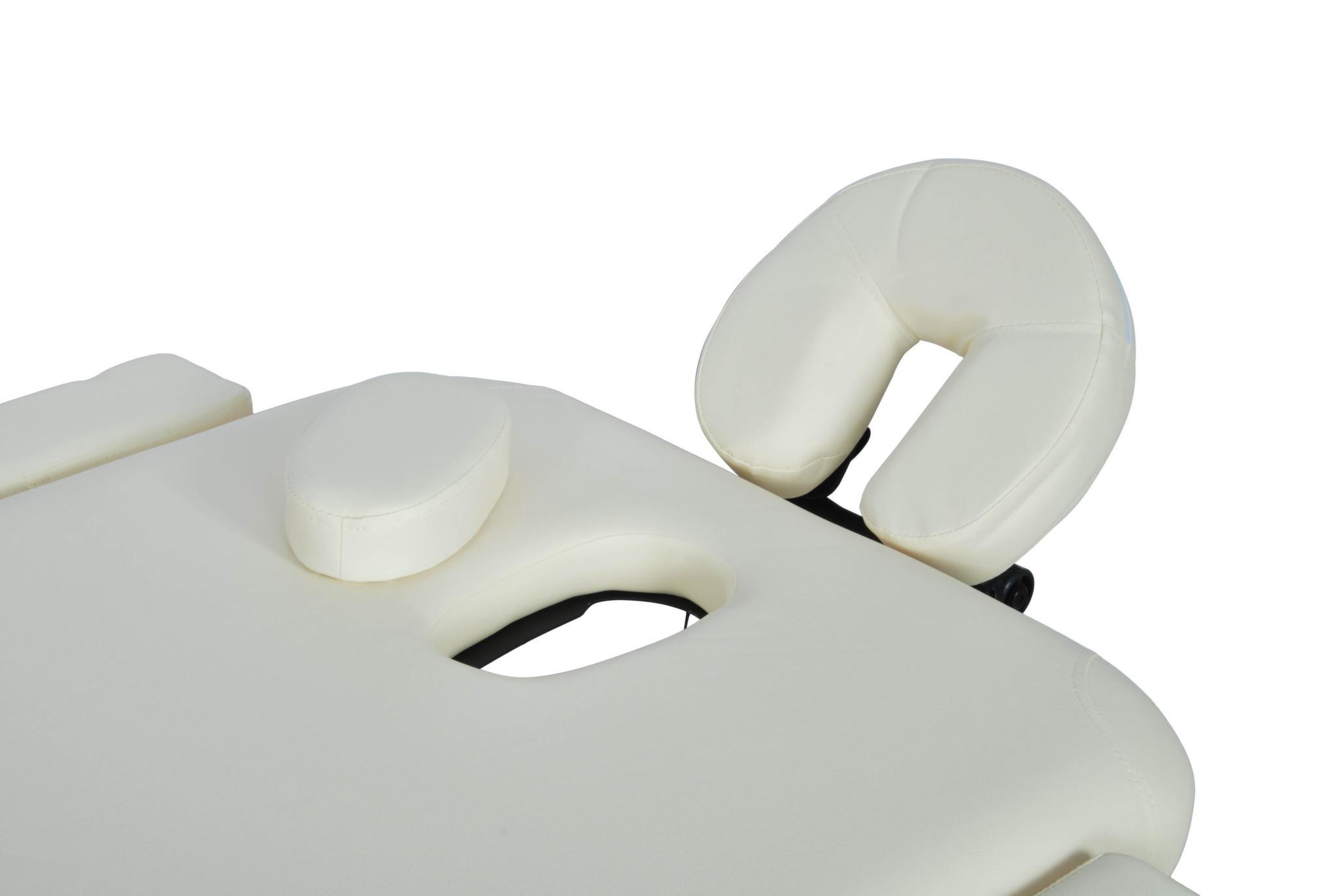 Складной массажный стол Med-Mos JFAL01A (МСТ-102Л) (3 секции) кремовыйСкладной массажный стол JFAL01A (МСТ-102Л) &amp;ndash; отличное оборудование для стационарного и выездного массажа. Благодаря современному дизайну, стол прекрасно впишется в любой интерьер массажного кабинета. С помощью раскладного механизма оборудование легко складывается и раскладывается. Это позволяет без труда переносить стол от клиента к клиенту.&amp;nbsp;&#13;<br>&#13;<br>Рама модели выполнена из алюминия, обивка &amp;ndash; винил-люкс, наполнитель &amp;ndash; поролон, толщиной 6 см.<br>