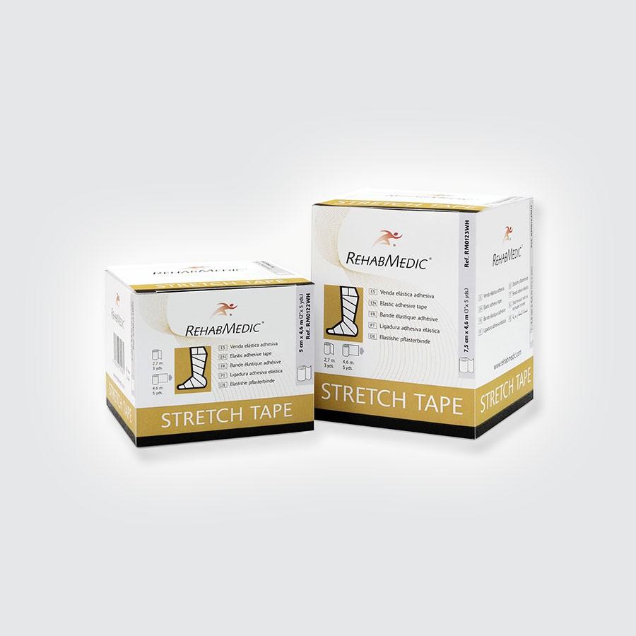 Тейп легкоразрываемый Rehab Medic Stretch Tape, 5 см х 4,6 м, белыйЛегкоразрываемый тейп широко используется в медицинских целях для наилучшей фиксации. Отлично подходит для неровных поверхностей.<br>
