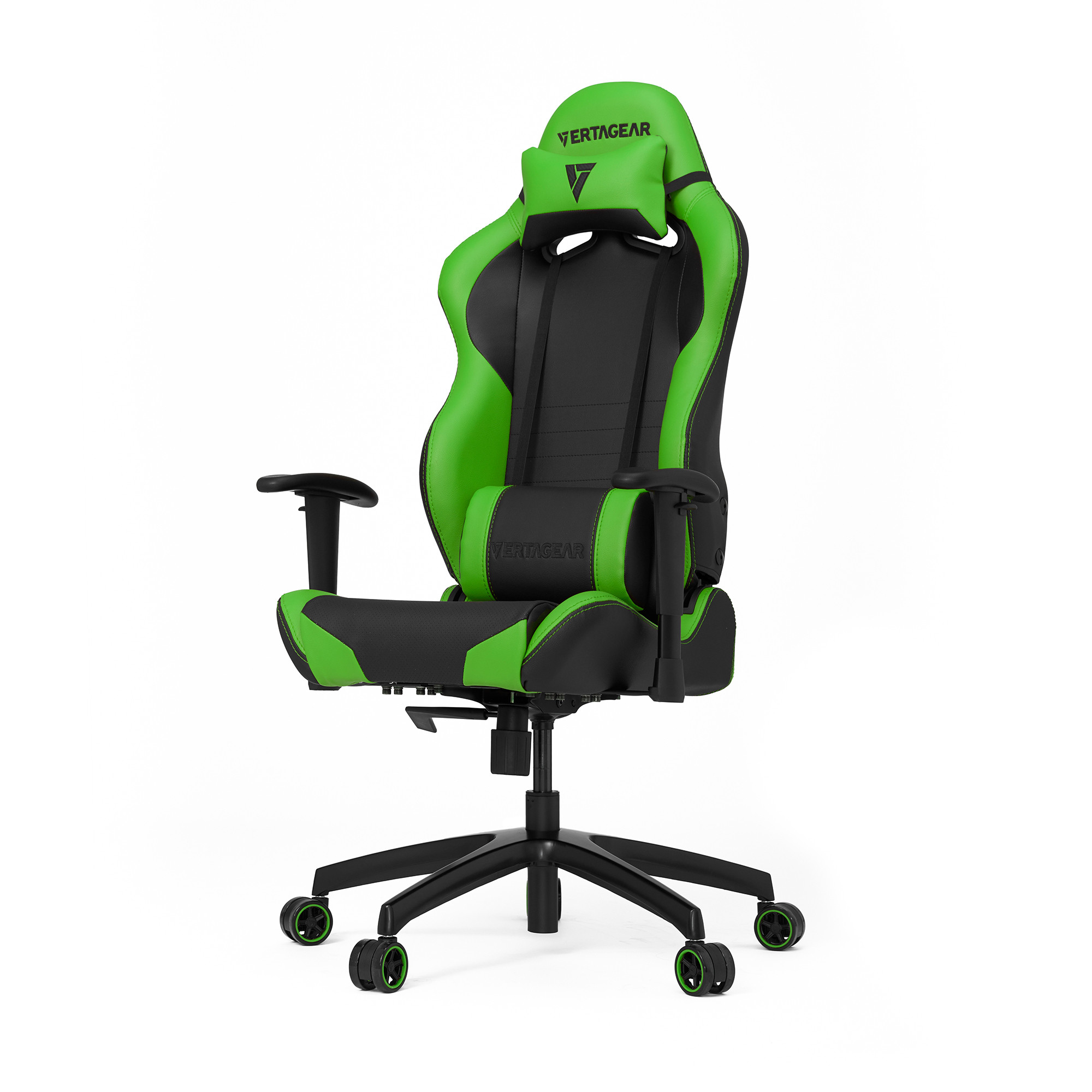 Профессиональное киберспортивное кресло Vertagear SL2000 черный/зеленыйНабивка в SL-2000 сделанная из высокоплотной эластичной пены, которая добавляет отличную поддержку и удобство в положении сидя.&#13;<br>&#13;<br>Элегантное исполнение модели SL-2000 сделано из высококачественной PVC кожи, которая делает покрытие невероятно прочным и дает креслу роскошный вид. Этот материал легко чистить и поддерживать в хорошем состоянии, благодаря цветной прошивке и водозащитным характеристикам.<br>