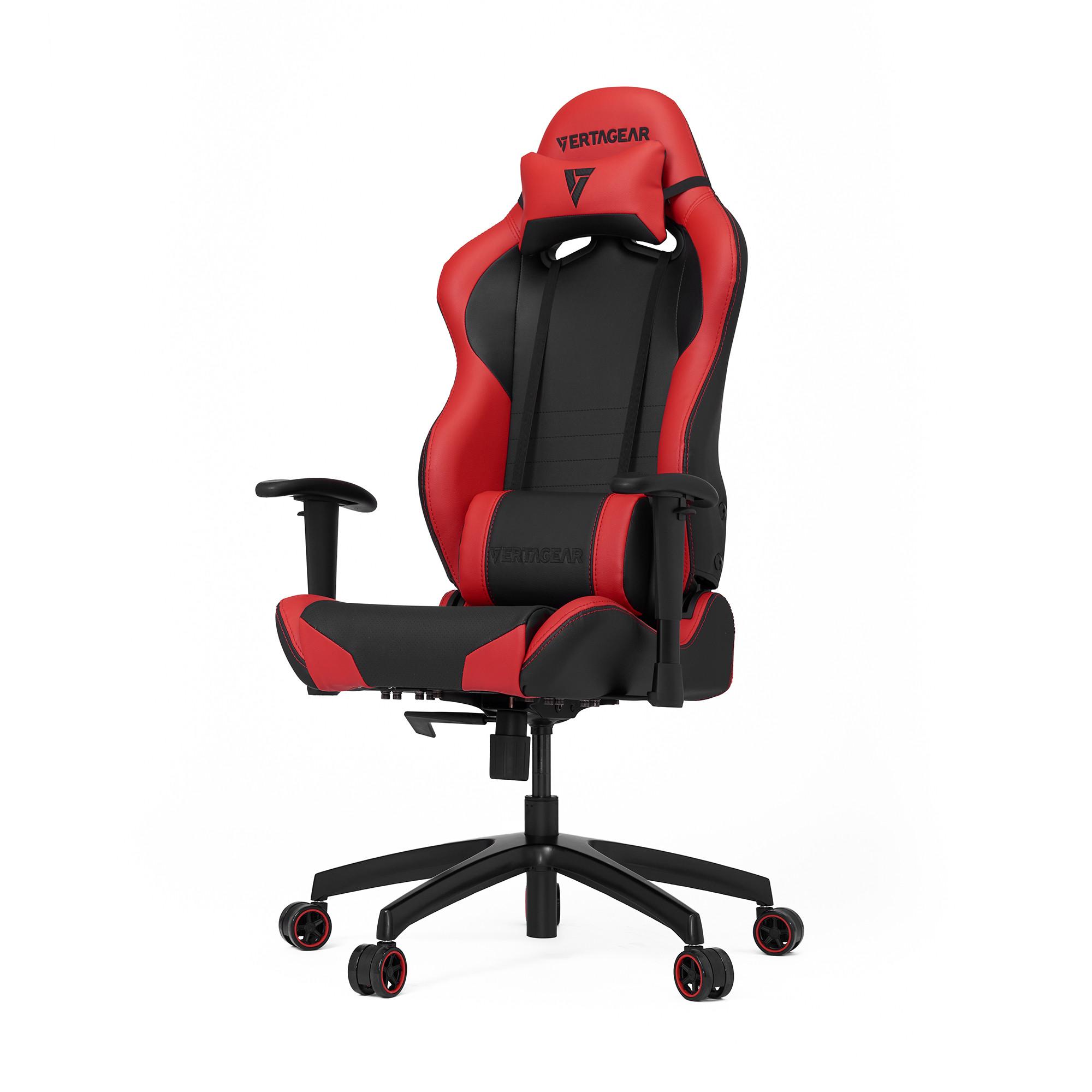 Профессиональное киберспортивное кресло Vertagear SL2000 черный/красныйНабивка в SL-2000 сделанная из высокоплотной эластичной пены, которая добавляет отличную поддержку и удобство в положении сидя.&#13;<br>&#13;<br>Элегантное исполнение модели SL-2000 сделано из высококачественной PVC кожи, которая делает покрытие невероятно прочным и дает креслу роскошный вид. Этот материал легко чистить и поддерживать в хорошем состоянии, благодаря цветной прошивке и водозащитным характеристикам.<br>