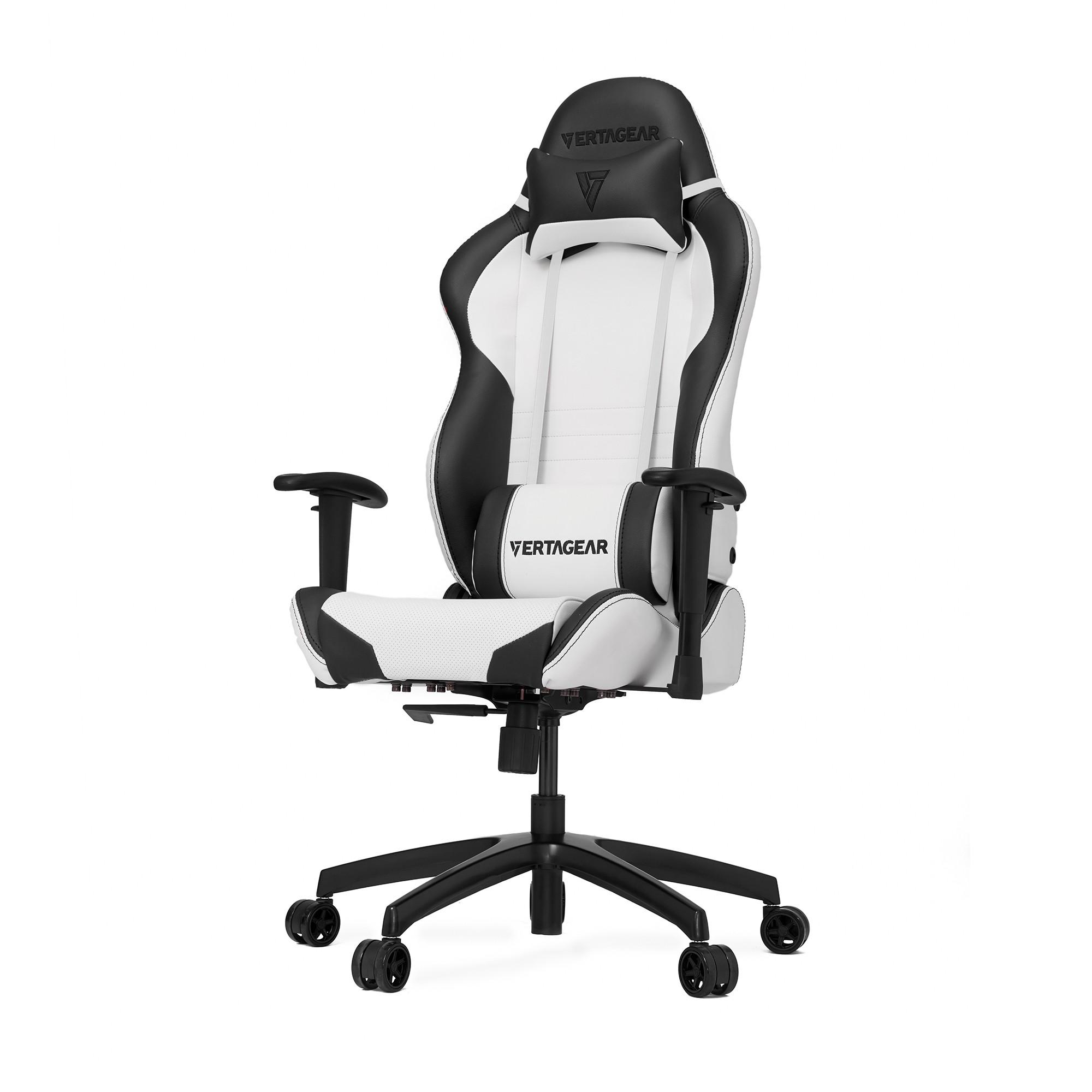 Профессиональное киберспортивное кресло Vertagear SL2000 белый/черныйНабивка в SL-2000 сделанная из высокоплотной эластичной пены, которая добавляет отличную поддержку и удобство в положении сидя.&#13;<br>&#13;<br>Элегантное исполнение модели SL-2000 сделано из высококачественной PVC кожи, которая делает покрытие невероятно прочным и дает креслу роскошный вид. Этот материал легко чистить и поддерживать в хорошем состоянии, благодаря цветной прошивке и водозащитным характеристикам.<br>