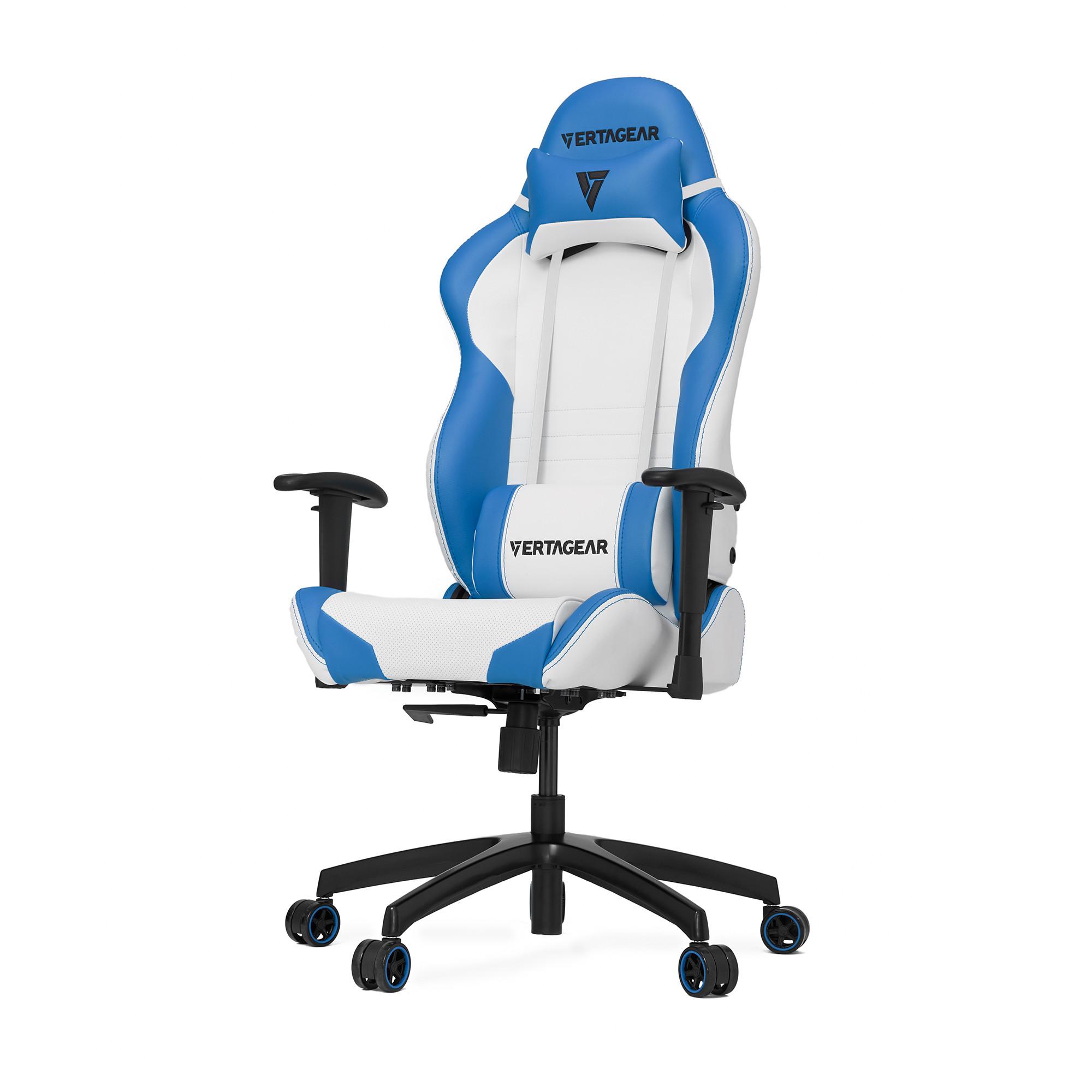 Профессиональное киберспортивное кресло Vertagear SL2000 белый/синийНабивка в SL-2000 сделанная из высокоплотной эластичной пены, которая добавляет отличную поддержку и удобство в положении сидя.&#13;<br>&#13;<br>Элегантное исполнение модели SL-2000 сделано из высококачественной PVC кожи, которая делает покрытие невероятно прочным и дает креслу роскошный вид. Этот материал легко чистить и поддерживать в хорошем состоянии, благодаря цветной прошивке и водозащитным характеристикам.<br>