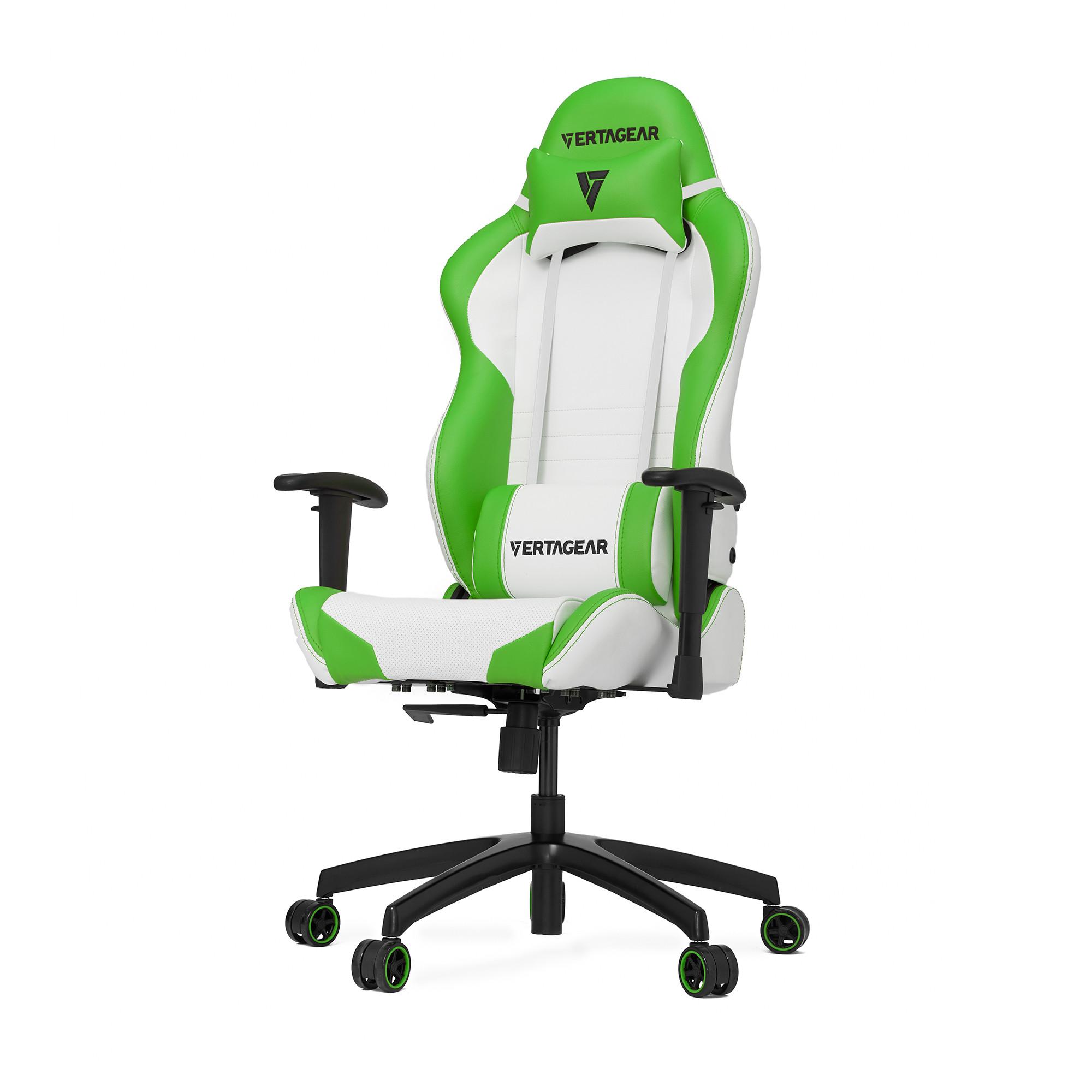 Профессиональное киберспортивное кресло Vertagear SL2000 белый/зеленыйНабивка в SL-2000 сделанная из высокоплотной эластичной пены, которая добавляет отличную поддержку и удобство в положении сидя.&#13;<br>&#13;<br>Элегантное исполнение модели SL-2000 сделано из высококачественной PVC кожи, которая делает покрытие невероятно прочным и дает креслу роскошный вид. Этот материал легко чистить и поддерживать в хорошем состоянии, благодаря цветной прошивке и водозащитным характеристикам.<br>