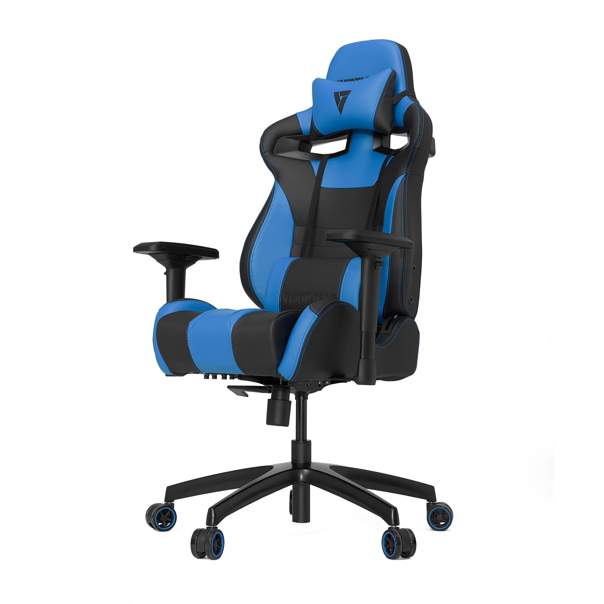 Профессиональное киберспортивное кресло Vertagear SL4000 черный/синийНабивка в SL-4000 сделанная из высокоплотной эластичной пены, которая добавляет отличную поддержку и удобство в положении сидя.&#13;<br>&#13;<br>Элегантное исполнение модели SL-4000 сделано из высококачественной PVC кожи, которая делает покрытие невероятно прочным и дает креслу роскошный вид. Этот материал легко чистить и поддерживать в хорошем состоянии, благодаря цветной прошивке и водозащитным характеристикам.<br>