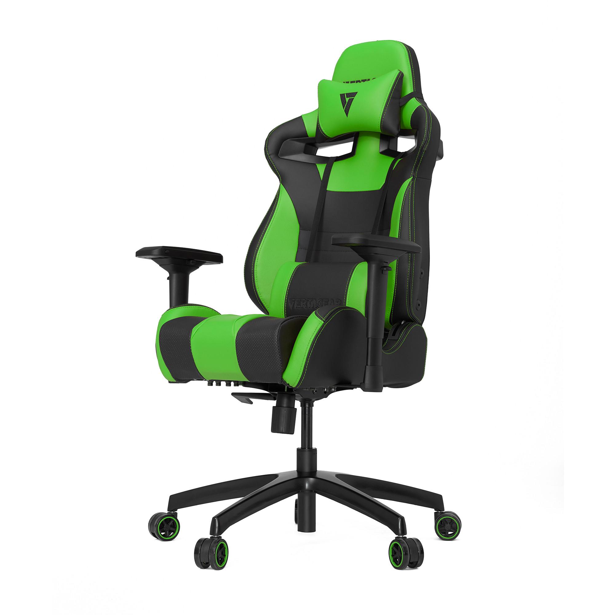 Профессиональное киберспортивное кресло Vertagear SL4000 черный/зеленыйНабивка в SL-4000 сделанная из высокоплотной эластичной пены, которая добавляет отличную поддержку и удобство в положении сидя.&#13;<br>&#13;<br>Элегантное исполнение модели SL-4000 сделано из высококачественной PVC кожи, которая делает покрытие невероятно прочным и дает креслу роскошный вид. Этот материал легко чистить и поддерживать в хорошем состоянии, благодаря цветной прошивке и водозащитным характеристикам.<br>