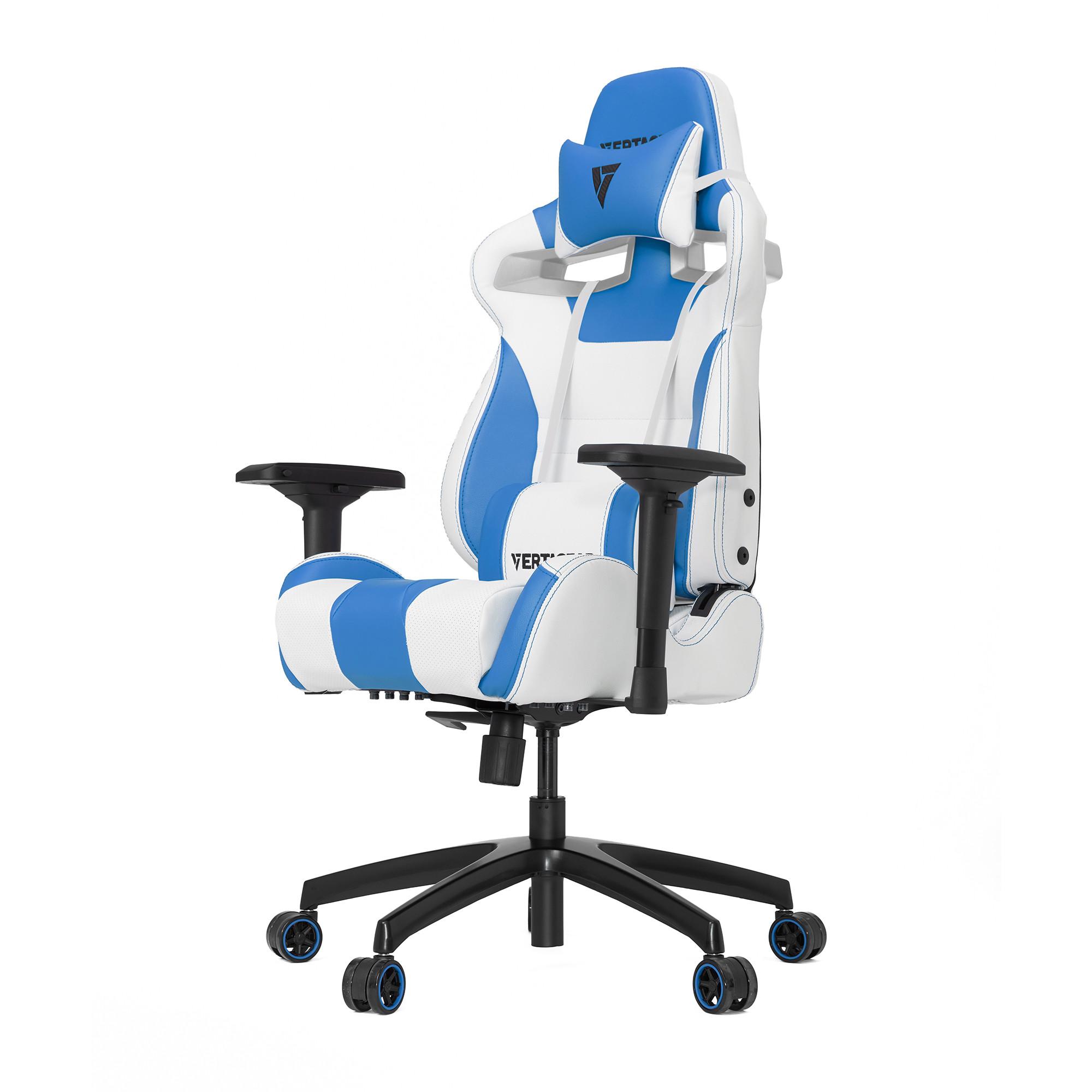 Профессиональное киберспортивное кресло Vertagear SL4000 белый/синийНабивка в SL-4000 сделанная из высокоплотной эластичной пены, которая добавляет отличную поддержку и удобство в положении сидя.&#13;<br>&#13;<br>Элегантное исполнение модели SL-4000 сделано из высококачественной PVC кожи, которая делает покрытие невероятно прочным и дает креслу роскошный вид. Этот материал легко чистить и поддерживать в хорошем состоянии, благодаря цветной прошивке и водозащитным характеристикам.<br>