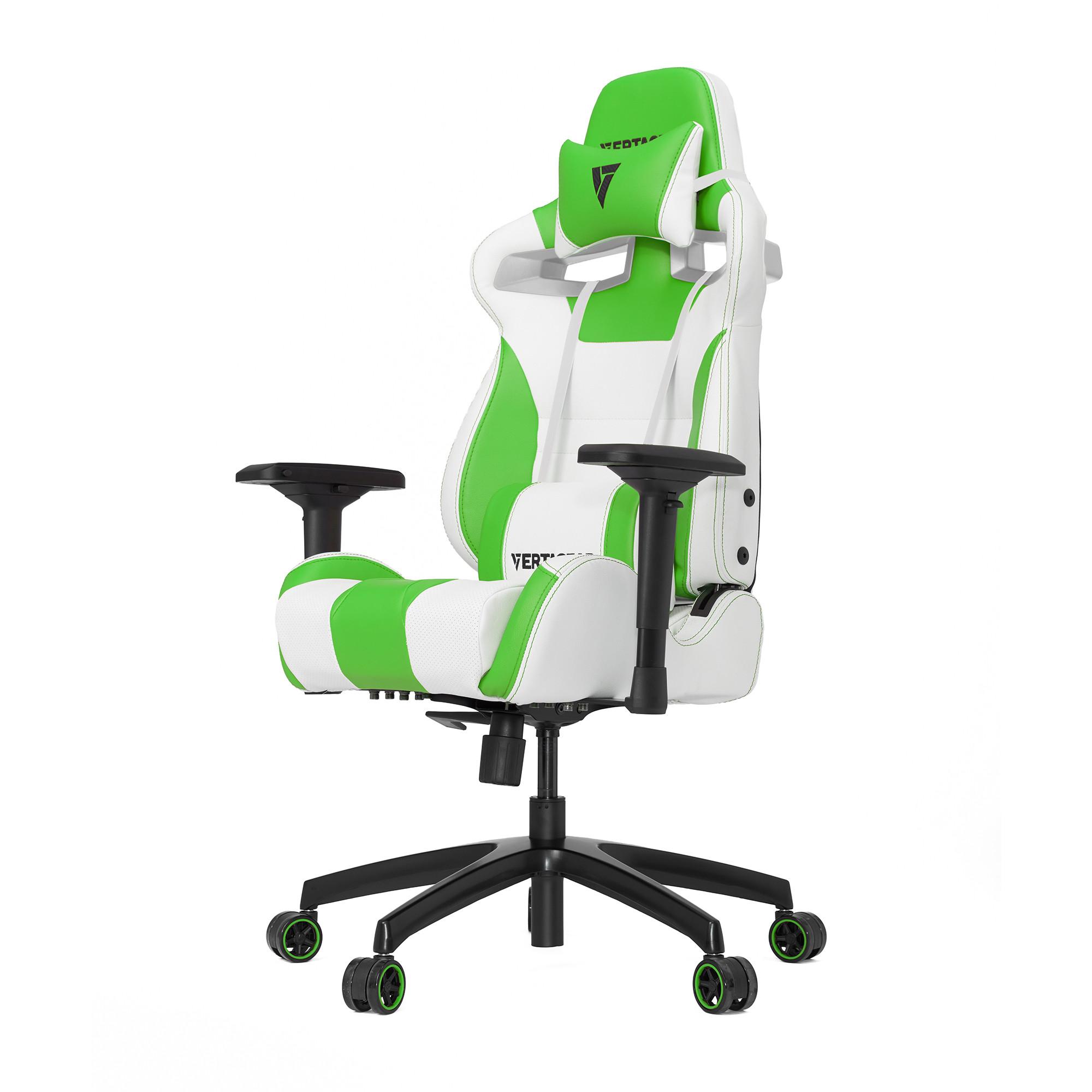 Профессиональное киберспортивное кресло Vertagear SL4000 белый/зеленыйНабивка в SL-4000 сделанная из высокоплотной эластичной пены, которая добавляет отличную поддержку и удобство в положении сидя.&#13;<br>&#13;<br>Элегантное исполнение модели SL-4000 сделано из высококачественной PVC кожи, которая делает покрытие невероятно прочным и дает креслу роскошный вид. Этот материал легко чистить и поддерживать в хорошем состоянии, благодаря цветной прошивке и водозащитным характеристикам.<br>