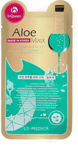 Маска для лица с экстрактом алоэ Us Medica Aloe Mask от Relax-market