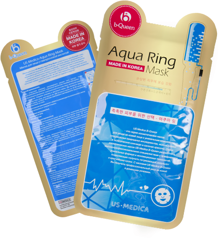 Маска для лица с гиалуроновой кислотой Us Medica Aqua Ring Mask от Relax-market