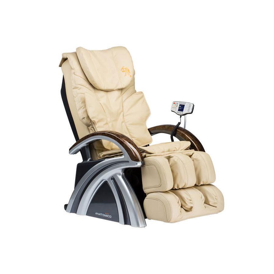 Массажное кресло Anatomico Amerigo бежевыйAnatomico Amerigo по достоинству занимает одно из лидирующих позиций в рейтинге современных массажных кресел, так как обладает отличной функциональностью, объединяет в себе все современные подходы к массажной процедуре, но при этом оно удивительно комфортабельно и имеет изысканный дизайн.<br>