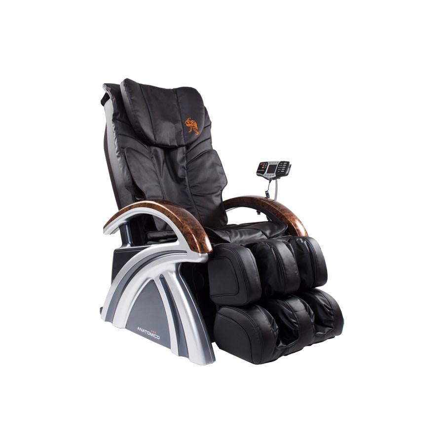 Массажное кресло Anatomico Amerigo черныйAnatomico Amerigo по достоинству занимает одно из лидирующих позиций в рейтинге современных массажных кресел, так как обладает отличной функциональностью, объединяет в себе все современные подходы к массажной процедуре, но при этом оно удивительно комфортабельно и имеет изысканный дизайн.<br>