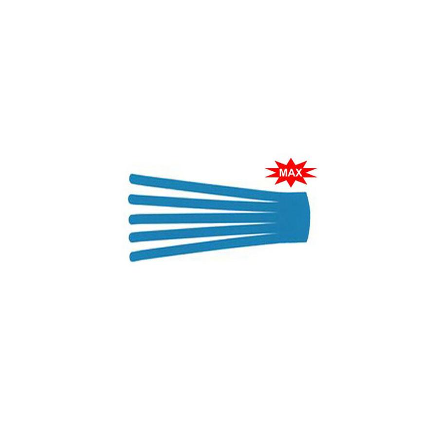 Кинезио тейп преднарезанный BB EDEMA STRIP МАХ 10х25 см голубойПреднарезанные кинезио тейпы подойдут тем, кто не хочет тратить время на отрезание полосок необходимой длины от стандартных рулонов тейпов. В каждом упаковке 20 шт. нарезанных аппликаций Лимфа-тейп (лапша, как еще называют этот вид аппликаций) размером 10 см &amp;times; 25 см с усиленным клеем для людей, занимающихся водными видами спорта и активными тренировками. Данный вид аппликаций кинезио тейпов используется в основном для лимфодренажа. 20 шт в упаковке.<br>