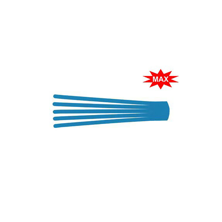 Кинезио тейп преднарезанный BB EDEMA STRIP МАХ 5 cм x х25 см голубойПреднарезанные кинезио тейпы подойдут тем, кто не хочет тратить время на отрезание полосок необходимой длины от стандартных рулонов тейпов. В каждом упаковке 20 шт. нарезанных аппликаций Лимфа-тейп (лапша, как еще называют этот вид аппликаций) размером 5 см &amp;times; 25 см с усиленным клеем для людей, занимающихся водными видами спорта и активными тренировками. Данный вид аппликаций кинезио тейпов используется в основном для лимфодренажа.<br>