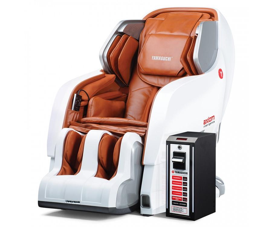 Вендинговое массажное кресло Yamaguchi Axiom YA-6000 vendingРусифицированное меню !!!!&#13;<br>&#13;<br>Лучшее массажное кресло Axiom теперь обеспечивает своим обладателям не только удовольствие, расслабление, но и прибыль. Оснащенное специальным купюроприемником, вендинговое кресло Axiom станет лучшей инвестицией для фитнес-центров, SPA-комплексов, салонов красоты. Это все тот же высококлассный Axiom: технологичный, с продуманным дизайном, множеством программ, с различными уровнями настроек, качественно исполненный.<br>