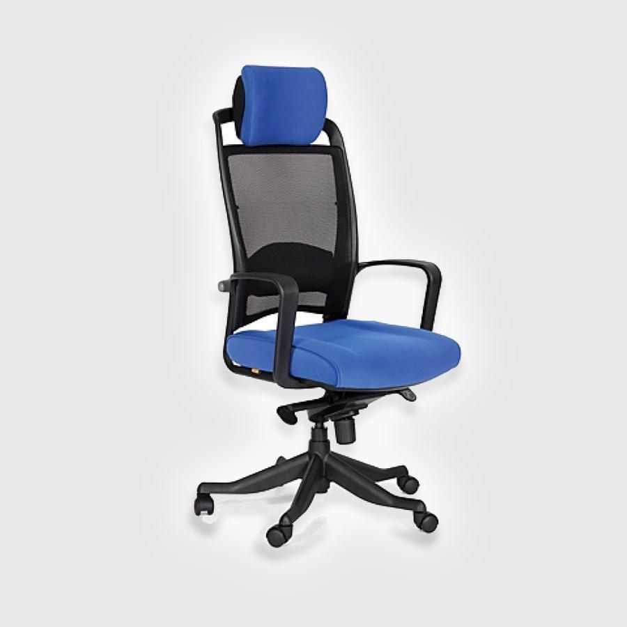 Кресла для руководителя CHAIRMAN 283 синийКресло для руководителей высшего звена CHAIRMAN СН 283 успешно дополняет линейку кресел, выполненных в стиле Hi-Tech со спинкой из сетчатого акрила. Эта модель подходит руководителям, которые много работают за компьютером и предпочитают кресла с тканевой обивкой. Обивка кресла - ткань стандарт - это легкое быстросохнущее и износостойкое синтетическое волокно, которое прекрасно сохраняет форму, устойчиво к светловому и тепловому воздействию.<br>