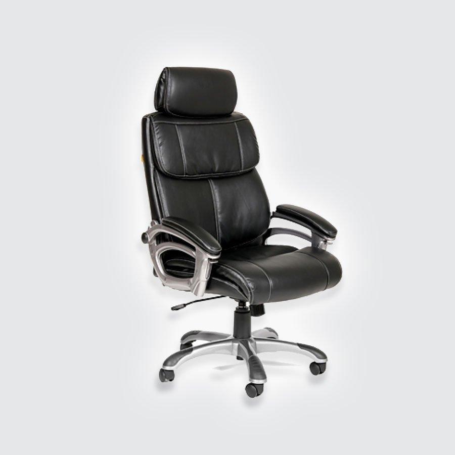 Кресла для руководителя CHAIRMAN 433 экопремиум чёрныйCHAIRMAN 433 - солидное и комфортное кресло для руководителей, легко впишется в стилистику практически любого интерьера. Спинка CHAIRMAN 433 состоит из нескольких мягких блоков, которые полностью повторяют форму спины. Широкие подлокотники с удобной регулировкой угла наклона придают статусности данной модели и позволяют с комфортом разместиться в кресле. Обивка кресла - кожа ЭКО. Экокожа - последнее достижение в технологиях производства обивочных тканей.<br>