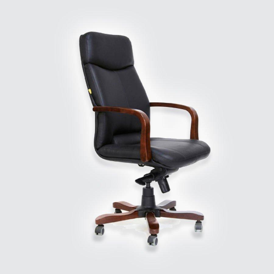 Кресла для руководителя CHAIRMAN 460 чёрная кожа