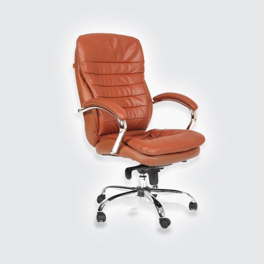 Кресло для руководителя CHAIRMAN 795 кожа коричневая
