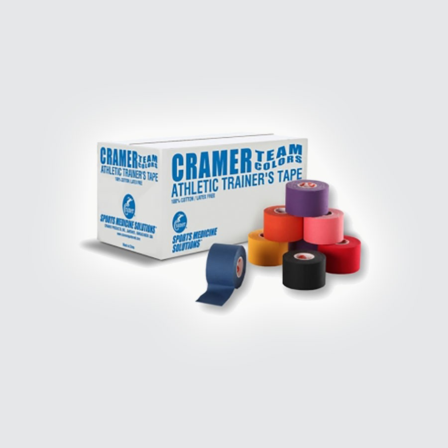 Спортивный тейп Cramer Team Colors Tape, цветной, 32 шт синий100% хлопковый тейп, не содержит латекса, содержит оксид цинка для улучшенной поддержки и комфорта при использовании.<br>