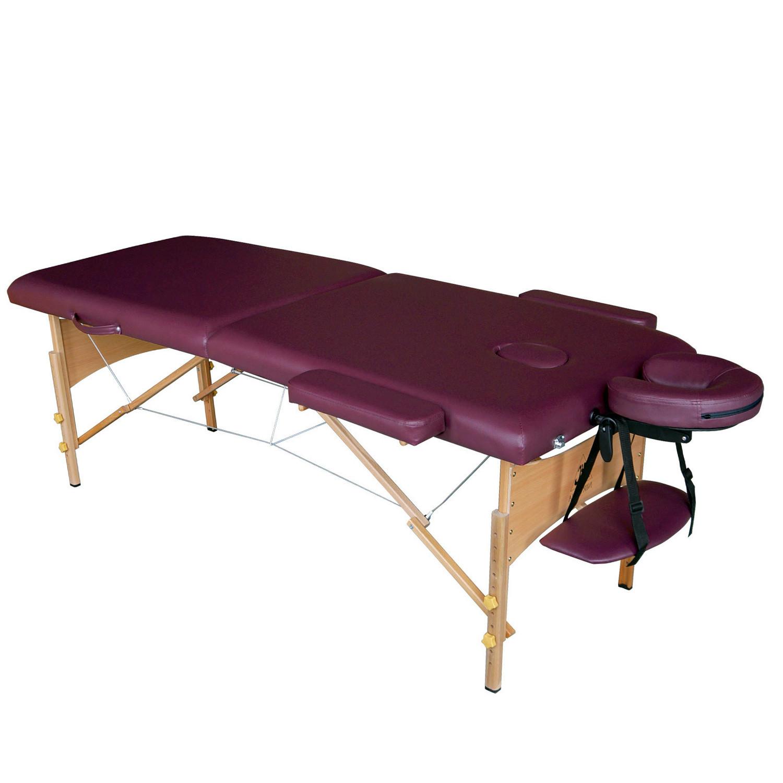 Массажный стол DFC NIRVANA Relax бордоСкладной 2-х секционный переносной массажный стол DFC NIRVANA Relax. Изготовлен из высококачественных компонентов. Идеально подходит для домашней эксплуатации.<br>