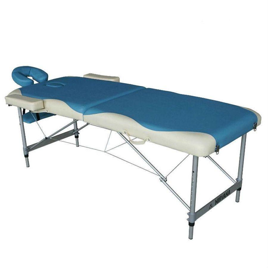 Массажный стол DFC NIRVANA Elegant DeluxeСкладной 2-х секционный переносной массажный стол DFC NIRVANA Elegant Deluxe изготовлен из высококачественных компонентов. Идеально подходит для домашней эксплуатации.<br>
