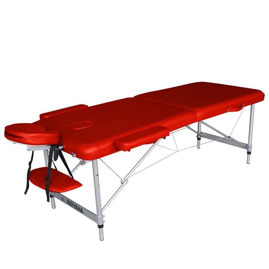 Массажный стол DFC NIRVANA Elegant OptimaСкладной 2-х секционный переносной массажный стол DFC NIRVANA Elegant Optima изготовлен из высококачественных компонентов. Идеально подходит для домашней эксплуатации.<br>