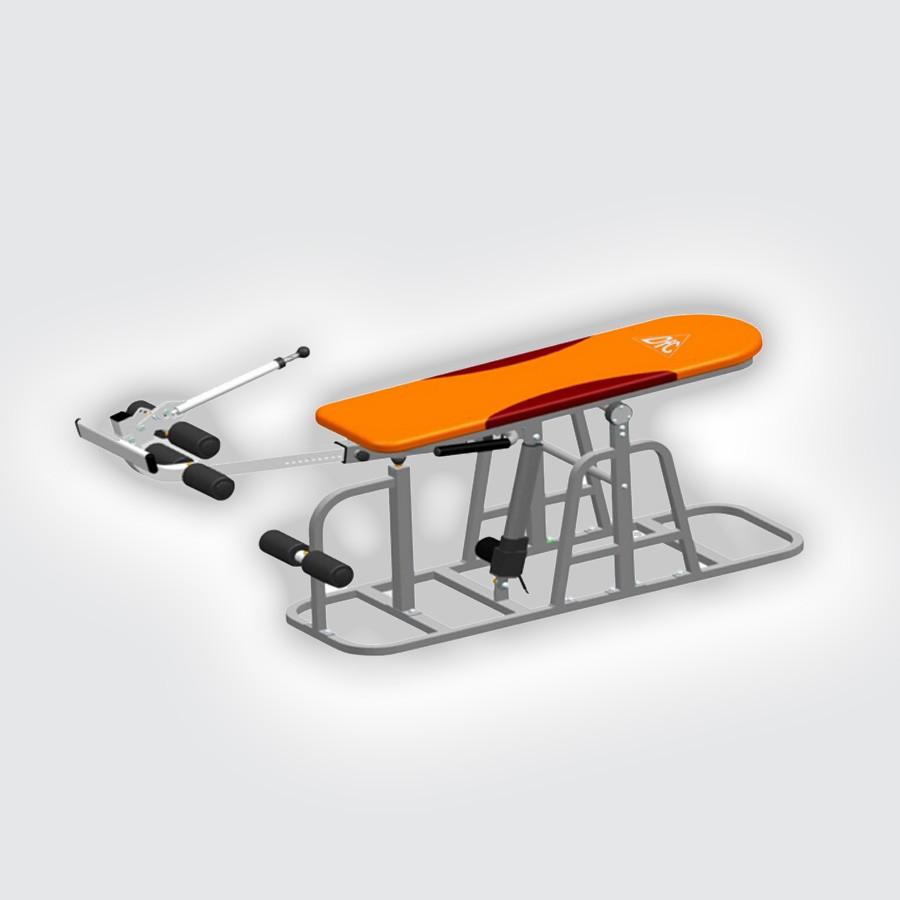 Инверсионный стол с электроприводом DFC XJ-E-03RLЭлектрический инверсионный стол DFC XJ-E-03RL с наклонной фиксирующей системой (работает от сети 220В через адаптер). Позволяет обеспечить плавное изменение угла наклона стола от 0 до 90 градусов с помощью электродвигателя. Регулировка под рост пользователя.<br>