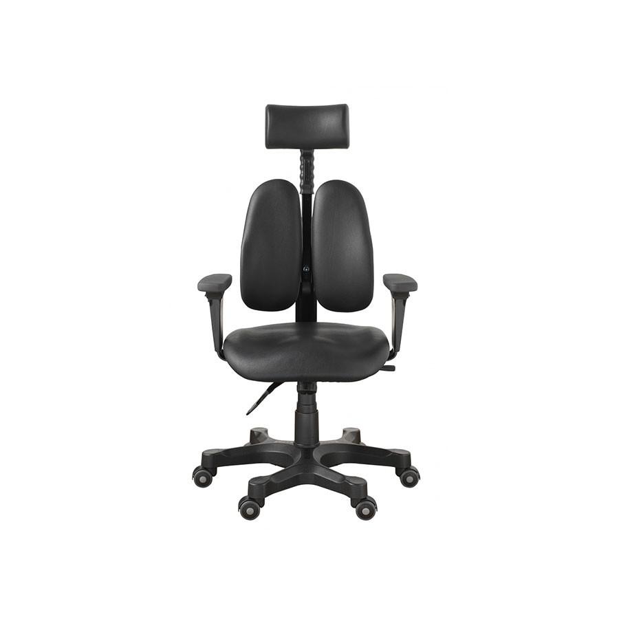 Офисное кресло Duorest Leaders DR-7500G черная экокожаНабор параметров ортопедического кресла для работы на компьютере DUOREST LEADERS DR-7500G характерен для других, более дорогих моделей. Уникальная система двойной спинки BACKREST позволяет отрегулировать кресло под спину не только по высоте, но и по ширине.<br>
