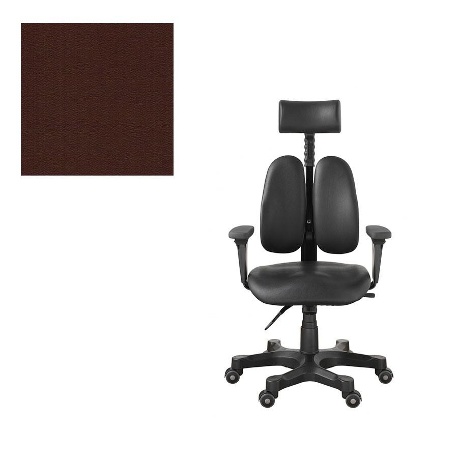 Офисное кресло Duprest Leaders DR-7500G коричневая экокожаНабор параметров ортопедического кресла для работы на компьютере DUOREST LEADERS DR-7500G характерен для других, более дорогих моделей. Уникальная система двойной спинки BACKREST позволяет отрегулировать кресло под спину не только по высоте, но и по ширине.<br>