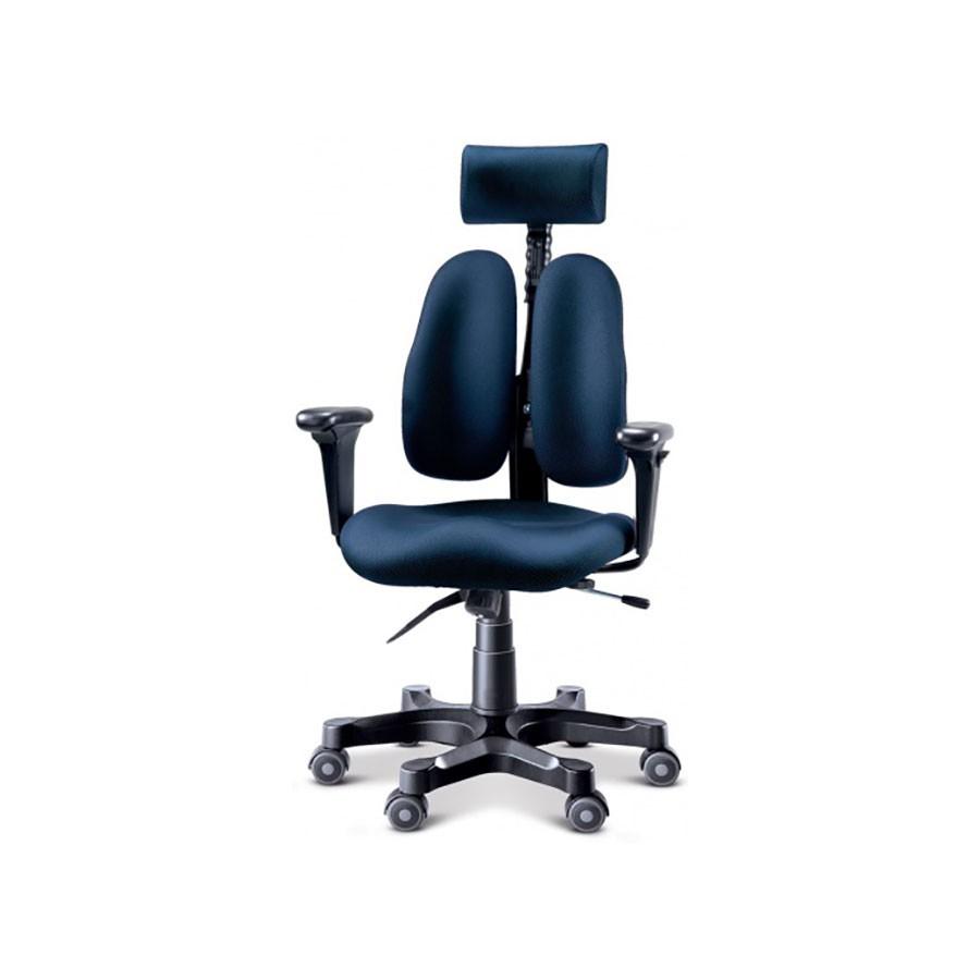 Офисное кресло Duorest Leaders DR-7500G ткань синяяНабор параметров ортопедического кресла для работы на компьютере DUOREST LEADERS DR-7500G характерен для других, более дорогих моделей. Уникальная система двойной спинки BACKREST позволяет отрегулировать кресло под спину не только по высоте, но и по ширине.<br>