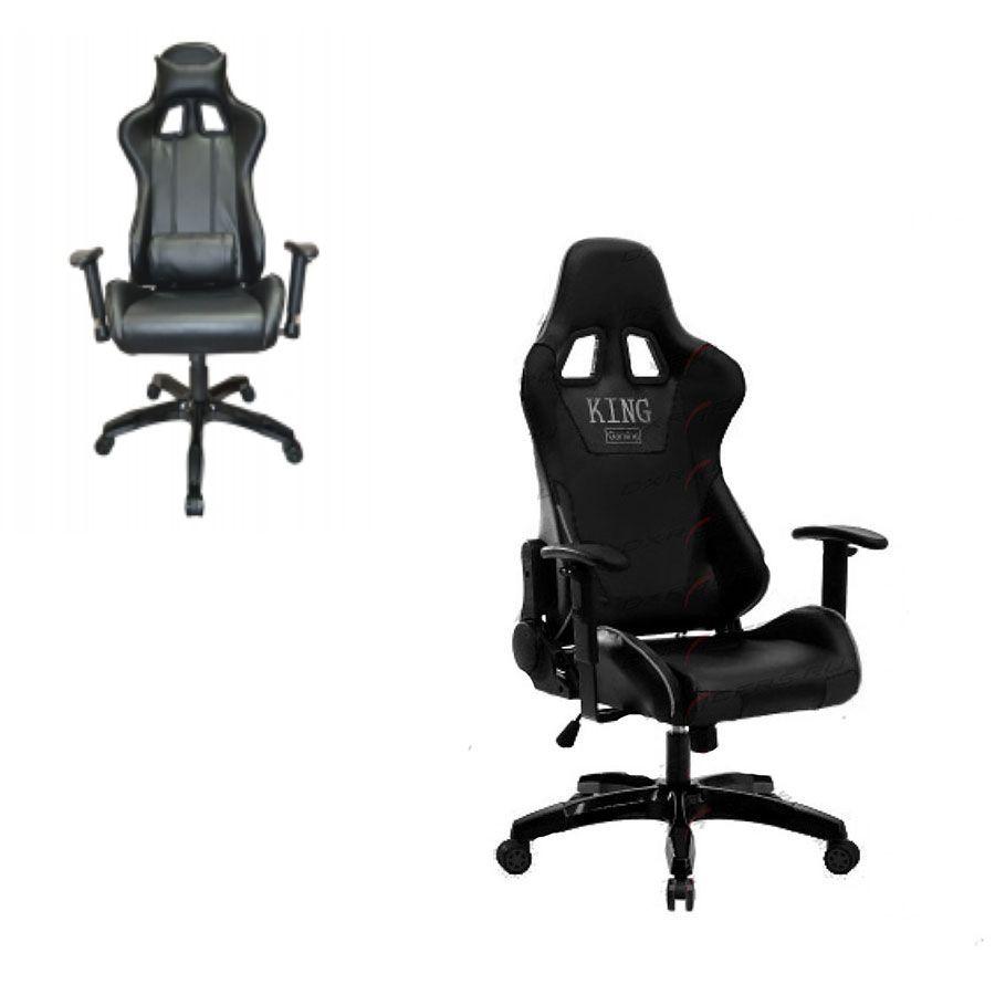Компьютерное кресло King Gaming 600 BlackСтильность и прочность великолепно сочетаются в поистине королевском компьютерном кресле King Gaming 600. Эргономичное, удобное и крепкое изделие способно удовлетворить различным предпочтениям пользователей и подстроиться под их физиологические особенности. С ним можно не только комфортно работать, но и отлично отдыхать в процессе работы.<br>