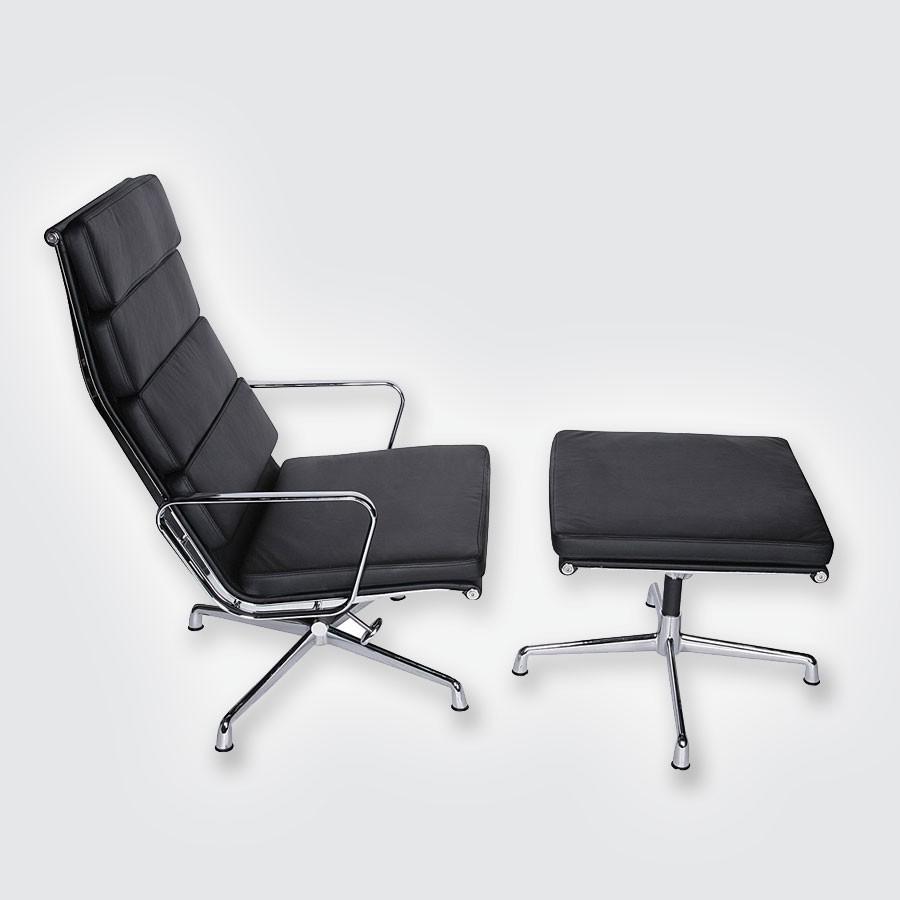 Кресло Eames Style Soft Pad Lounge Chair &amp; Ottoman EA222/EA223Коллекция кресел Eames Aluminum Group и Soft Pad Group &amp;ndash; это сочетание потрясающей лаконичности и невероятного удобства. Ставшая величайшей иконой дизайна XX века эта мебель неизменно остается на пике популярности вне времени и моды. История Впервые кресла Eames Aluminum Group были представлены дизайнерами Рей и Чарльзом Имс в 1958 г.<br>