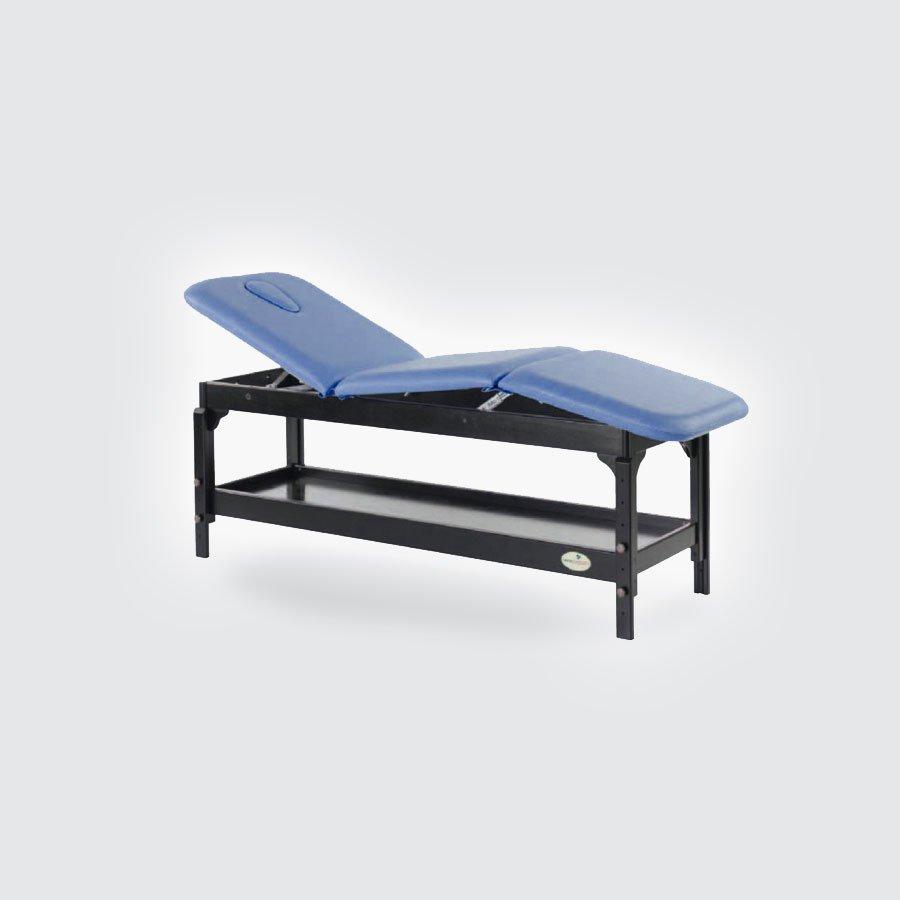 Массажный стол Ecopostural C-3239Стационарный массажный стол Ecopostural C-3229 выполнен из натуральных, высококачественных материалов. Деревянный каркас стола выдерживает большой вес и, благодаря полочке, расположенной под ложем, может быть использован как место для хранения различных массажных аксессуаров. Ложе состоит из 3-х секций, каждая из которых может регулироваться, меняя свой угол наклона.<br>