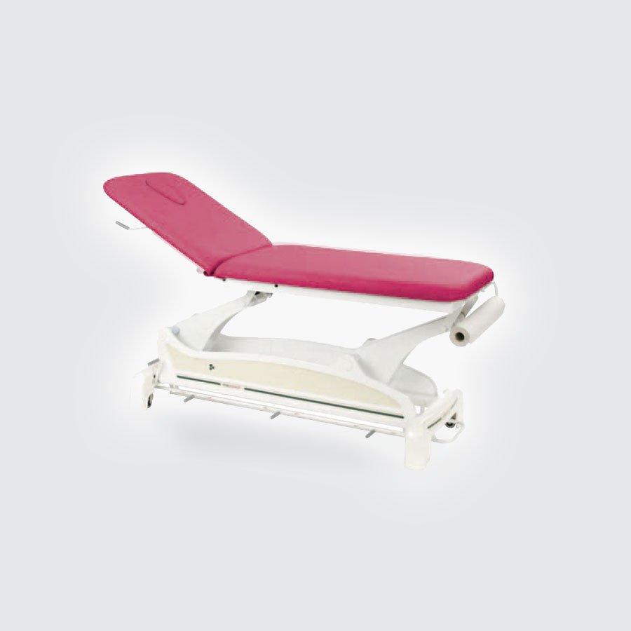 Массажный стол Ecopostural C-3533 TСтационарный массажный стол Ecopostural С-3533Т имеет двухсекционную конструкцию и обладает возможностью регулировки высоты ложа&amp;nbsp; с помощью электро/пневмоподъемника &amp;ndash; таким образом, массажист может быстро и без усилий установить нужную высоту в зависимости от собственных предпочтений и параметров пациента. Основа массажного стола имеет 4 ножки, придающие ему требуемую устойчивость. Прочный металлический каркас &amp;nbsp;помогает столу выдерживать большие динамические нагрузки.<br>